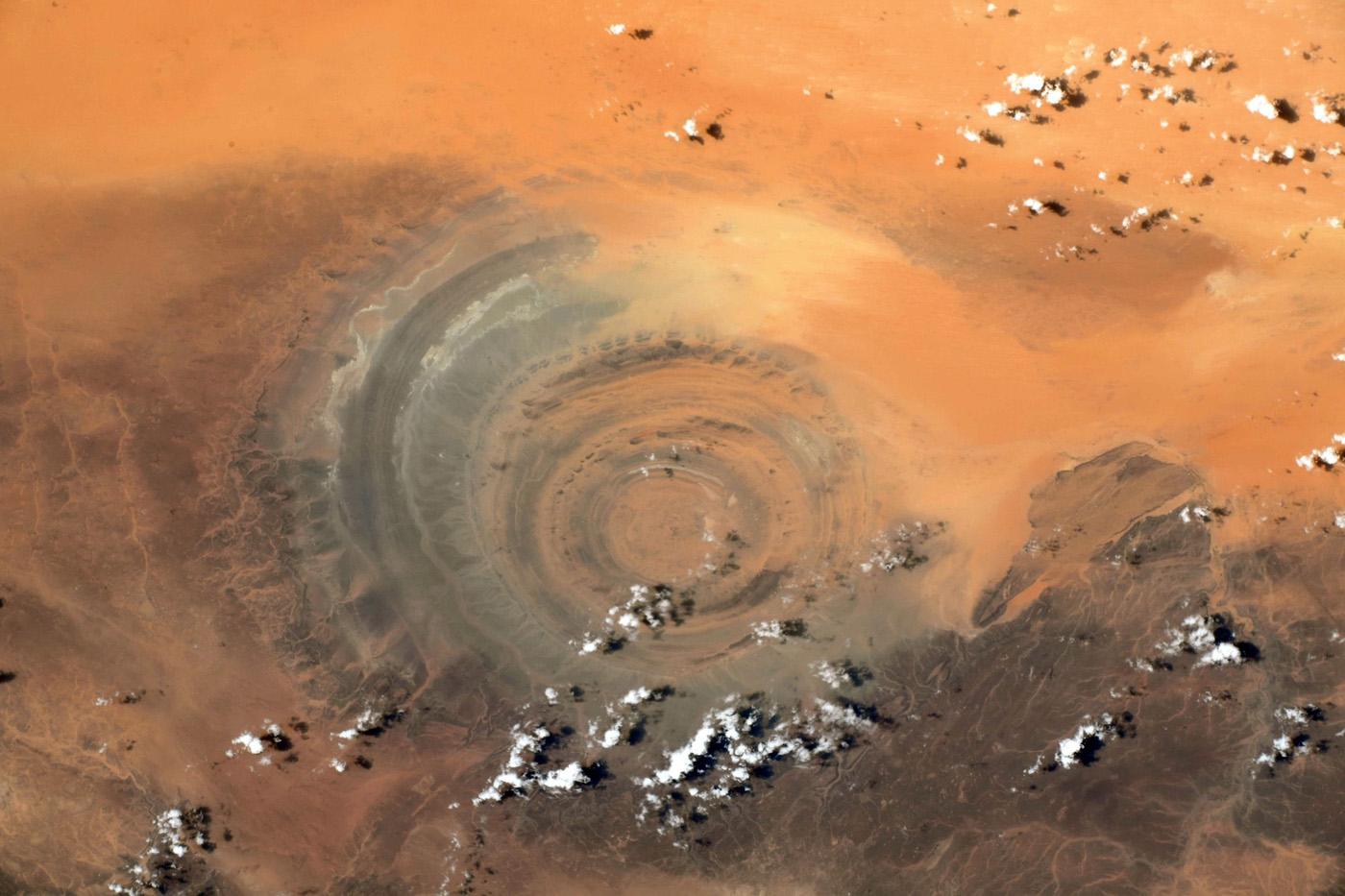 Structure de Richat, Mauritanie – © Thomas Pesquet